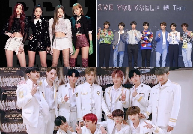 wanna one, bts and black pink rankings