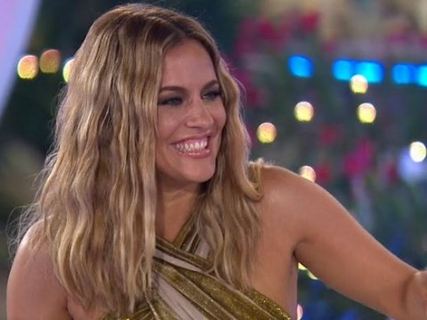Caroline Flack seems to address failed engagment as she tells Laura and Paul 'just don't rush anything'