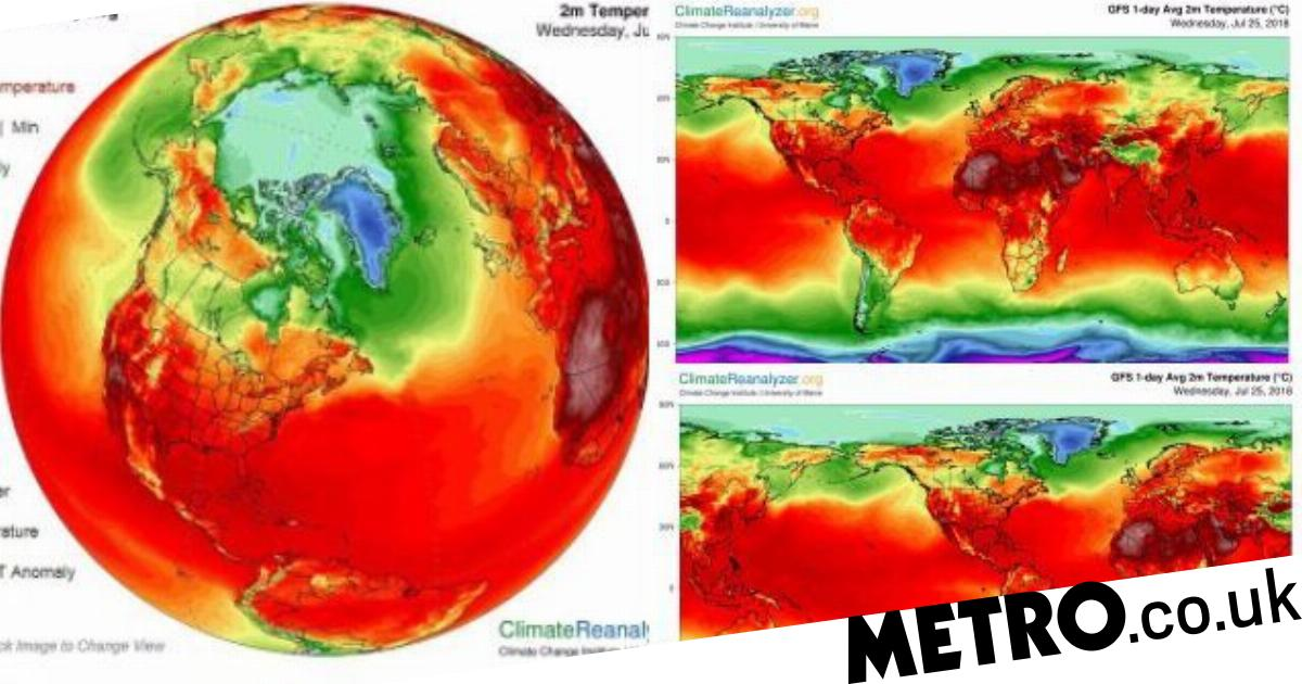 Map reveals nearly the entire planet is under a heatwave at the moment