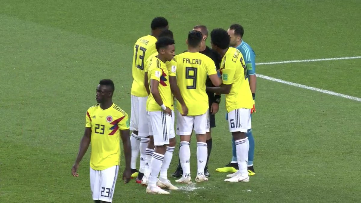 Colombia players tried to scuff up penalty spot during World Cup clash with England