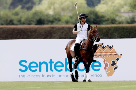 a2db9c75aa42 Prince Harry, Duke of Sussex of Sentebale St. Regis competes during the  Sentebale Polo 2018 held at the Royal County of Berkshire Polo Club on July  26, ...