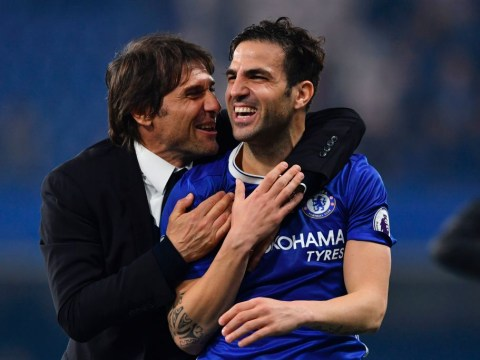 Cesc Fabregas bids farewell to Antonio Conte after Chelsea boss sacked