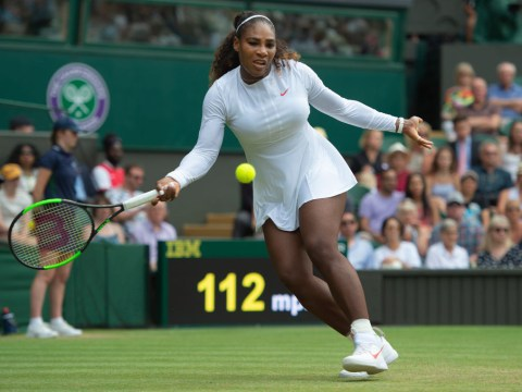 Why does Serena Williams wear compression sleeves and tights at Wimbledon?
