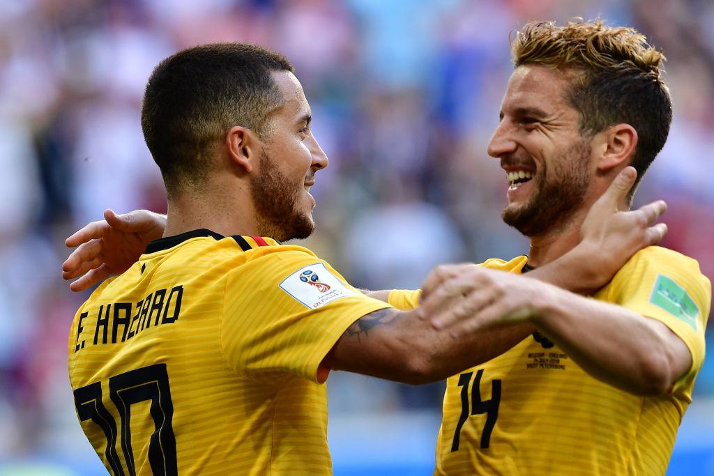 Eden Hazard reveals chats with Dries Mertens about new Chelsea boss Maurizio Sarri