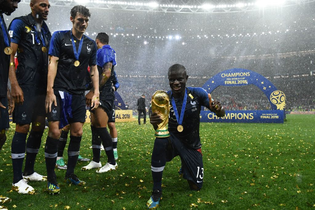 N'Golo Kante was too shy to ask to hold the World Cup trophy so Steven N'Zonzi forced him