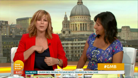 Kate Garraway left flustered after three wardrobe changes and nearly flashing a producer on GMB
