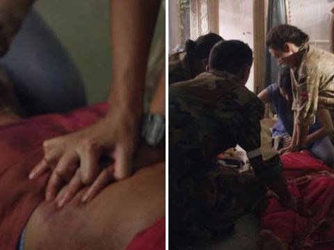 Michelle Keegan's dodgy CPR technique on Our Girl leaves fans cringing
