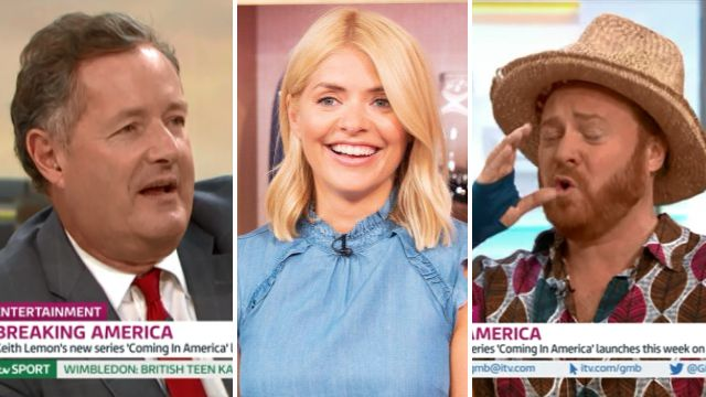 Keith Lemon and Piers Morgan out Holly Willoughby's hidden stash of vodka: 'It's under the desk'