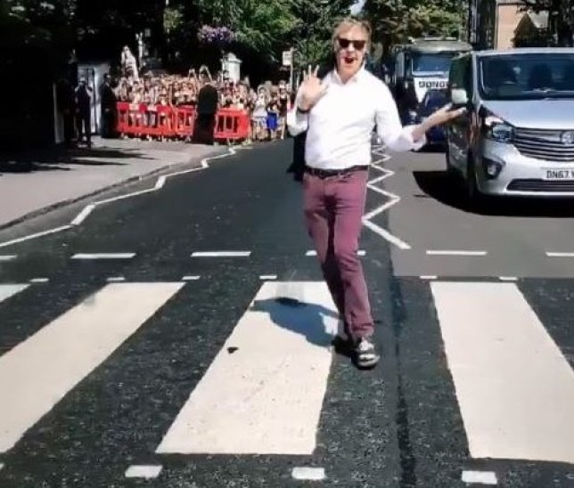 Paul McCartney returned to the Abbey Road crossing (Picture: Instagram)