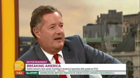 It all started with Piers and his talk of England Vs Columbia hangovers (Picture: ITV)