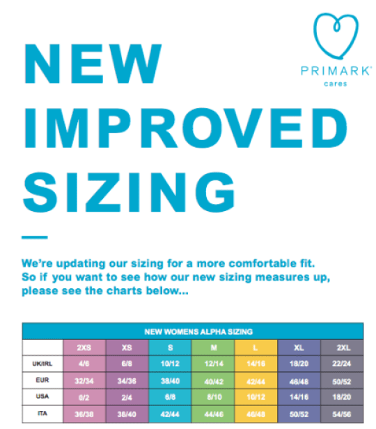 57e52d4c9 New Primark sizing means dress sizes are more inclusive