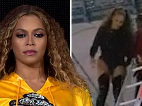 Even Beyonce has bad days as she has to be rescued from stage during OTR II tour in Poland