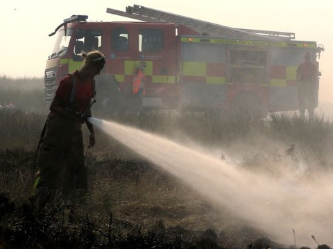 Firefighters' urgent plea for sun cream, socks and hats as they battle moors fires