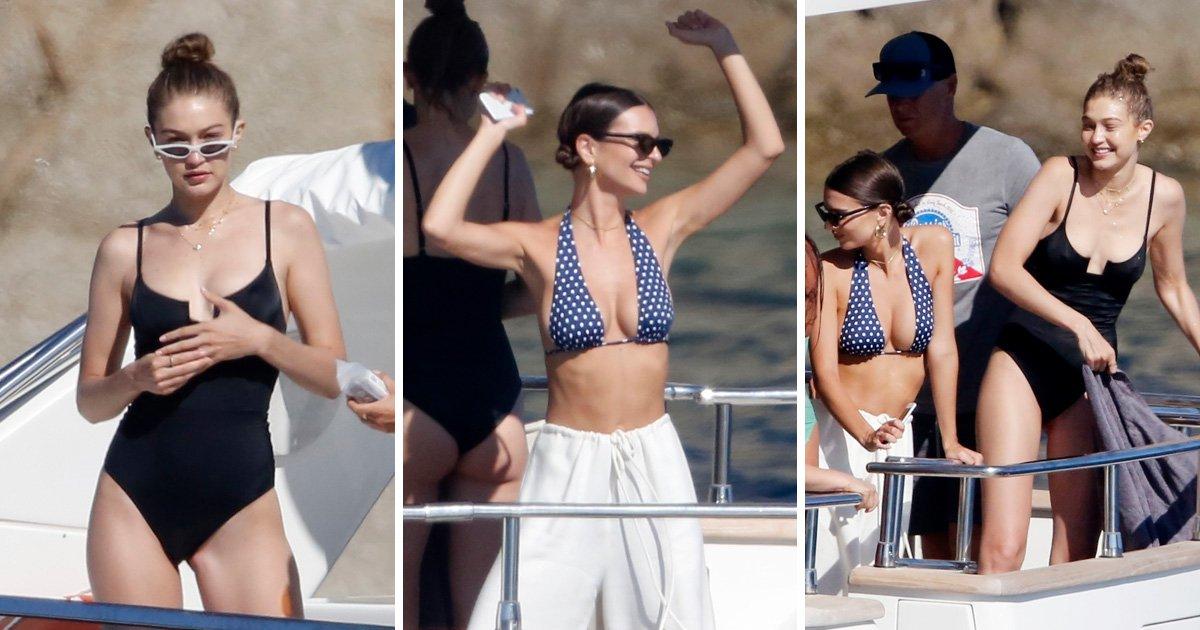 Gigi Hadid and Emily Ratajkowski party on a luxury Greek yacht and make us all jealous