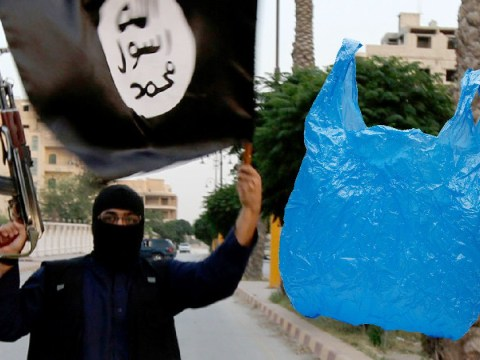 Terrorists have banned plastic bags because they pose a threat to environment
