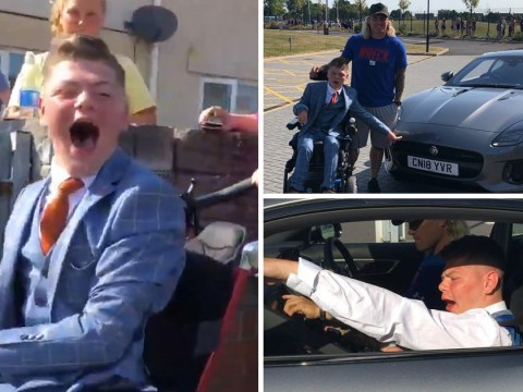 Boy who can't get to prom with his friends gets surprise lift from Welsh rugby star instead