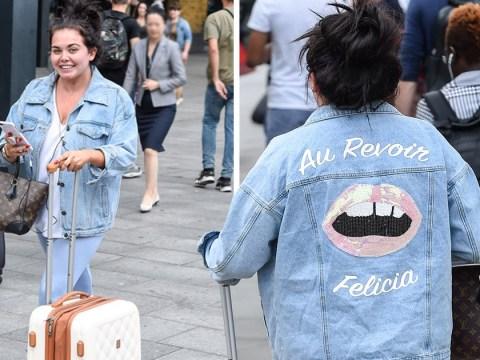 Scarlett Moffatt lets her jacket do the talking amid split rumours