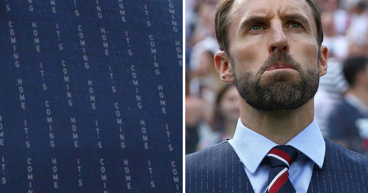 Campaign to sew 'it's coming home' into Gareth Southgate's waistcoat