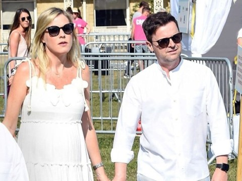 Declan Donnelly soaks up the sun with pregnant wife Ali Astall