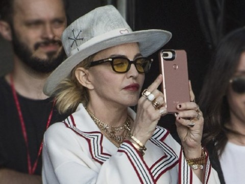 Madonna spotted at Wireless Festival as she runs on-stage during Migos