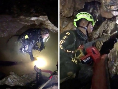 This is how brave divers are attempting to rescue boys trapped in Thai caves