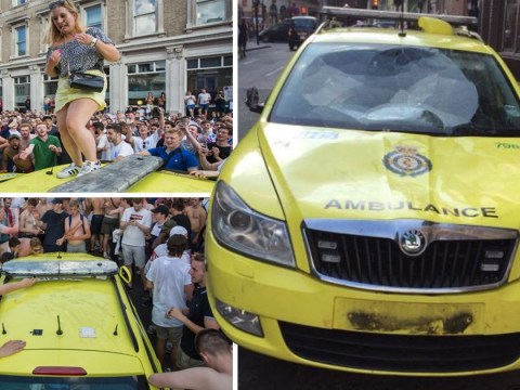 Football fans launch fundraiser to repair ambulance wrecked in wild World Cup celebrations