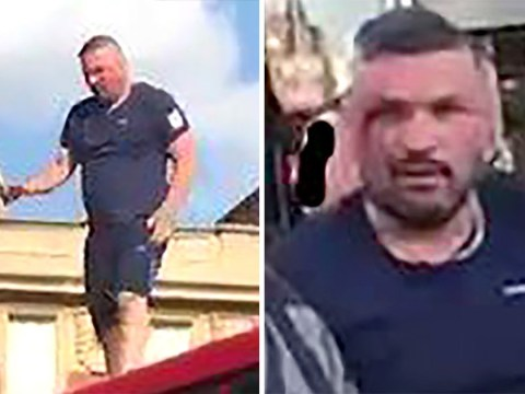England fan who painfully jumped off double decker pictured by police