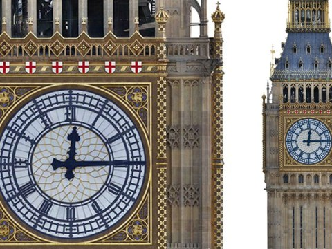 Big Ben to get £61,000,000 St George's cross and blue face makeover