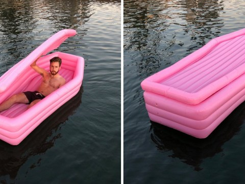 Get your bank cards 'cos that inflatable pink coffin is now available to buy