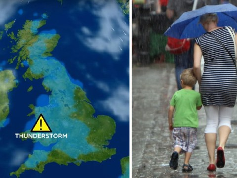 Thunder and heavy rain to batter Britain tomorrow as heatwave looks officially over