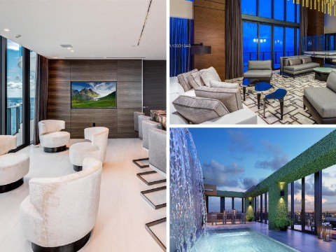 Buyers of this luxury Miami penthouse will get a free £373k pink diamond with purchase