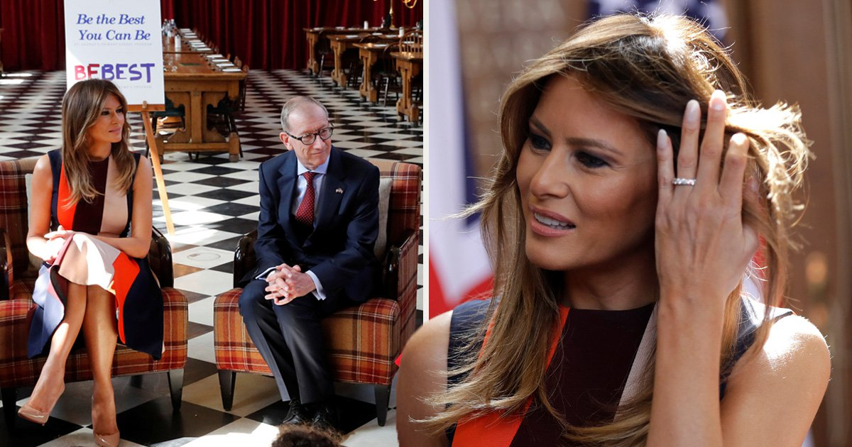 Melania Trump and new BFF Philip May meet the Chelsea Pensioners