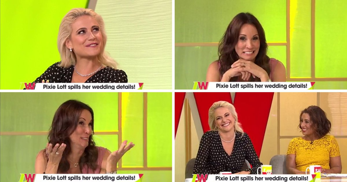 Voice Kids judge Pixie Lott has an awks moment with Andrea Mclean as reveals details of wedding to Oliver Cheshire