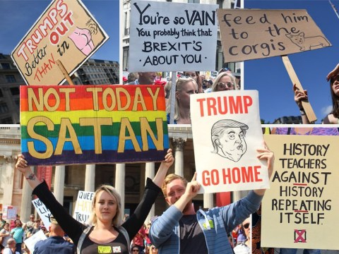 15 of the best signs protesting Donald Trump's visit to the UK