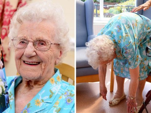 Meet Olive, the 105-year-old who can still touch her toes