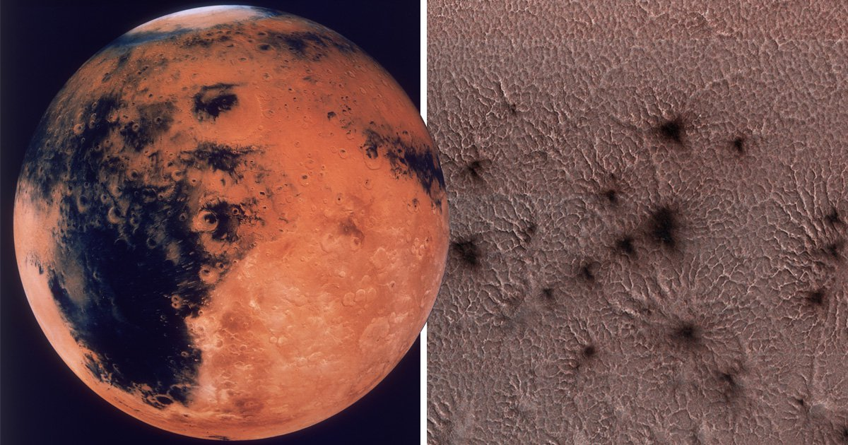Is there life on Mars? Nasa spots more alien 'spiders' on Red Planet
