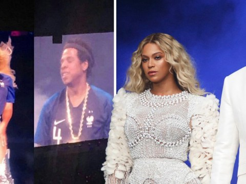 Beyonce and Jay-Z wore matching France football shirts during their concert and it's adorable