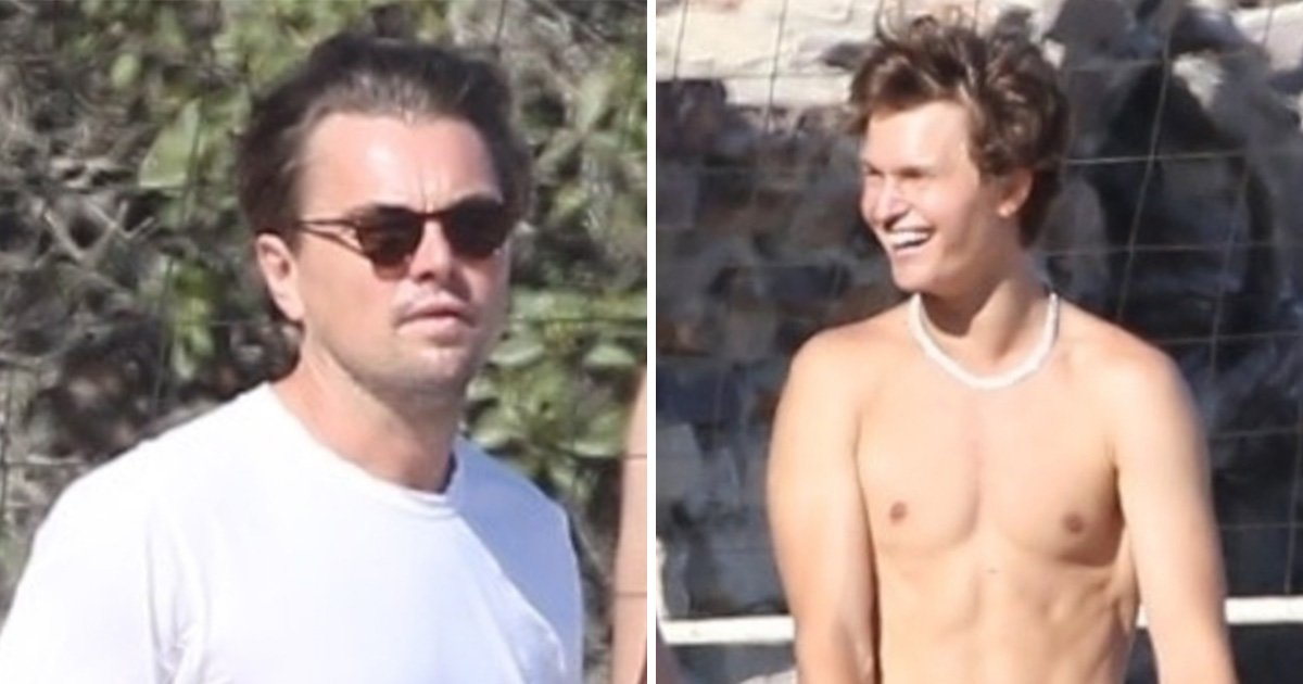 Leonardo DiCaprio and Ansel Elgort are our new favourite BFFs as they team up for volleyball match