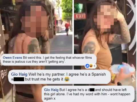 Woman isn't happy that her boyfriend filmed 'walk of shame' girls in Magaluf