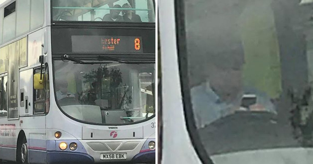 Bus driver caught using his phone with passengers on board
