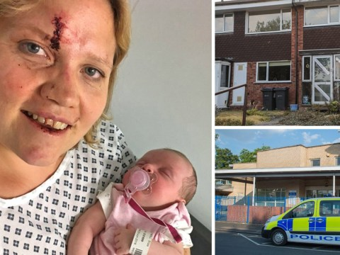 Bloodied face of mother who tried to fight off carjackers with newborn inside