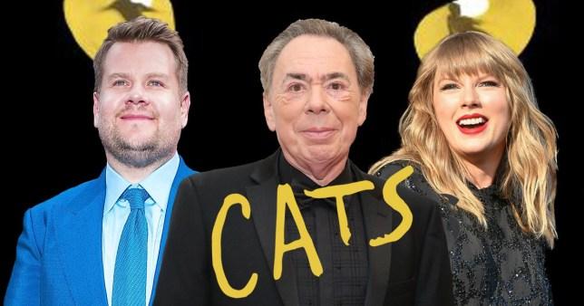 James Corden, Andrew Lloyd Webber and Taylor Swift