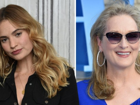 Lily James being related to Meryl Streep IRL is the ultimate Mamma Mia! Here We Go Again plot twist