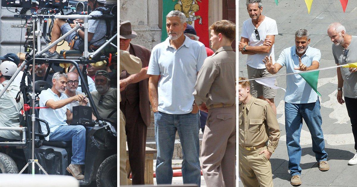 George Clooney spotted back on set days after motorbike crash left him hospitalised