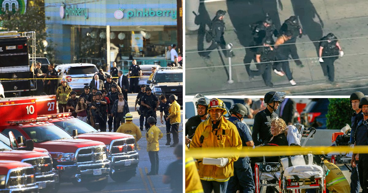 Teenage gunman takes hostages and shoots woman dead in supermarket stand-off