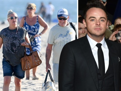 Lisa Armstrong enjoys beach day with parents amid claims Ant McPartlin is begging her to sign divorce papers