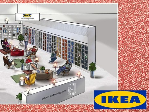 Ikea is building reading rooms, where you can take books home for free