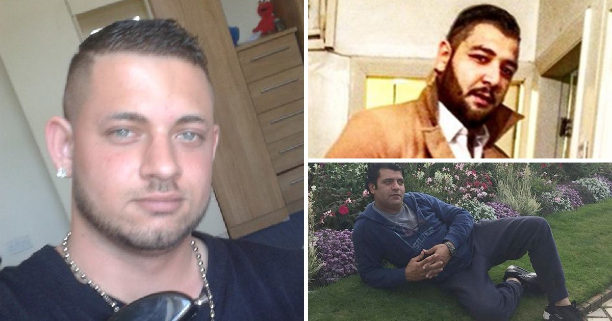 Pictured: Men charged over acid attack on boy, 3