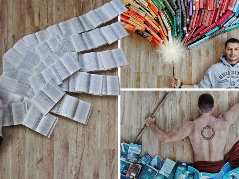 Man creates stunning artwork out of his favourite books