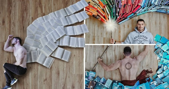 A NOVEL IDEA - Book lover arranges his massive library of books into stunning art work